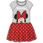 Toddler Girls Big Bow Minnie Tutu Dress, Gray Red