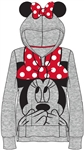 Toddler Girls Minnie Ears Big Face Pullover, Light Gray