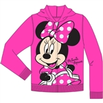 Toddler So Happy Minnie Zip Up Hoodie, Fuschia Pink