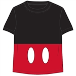 Toddler Boys T Shirt Mickey Shorts, Black Red