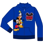 Toddler Mickey Friends Goofy Pluto Zip Up Hoodie, Royal Blue