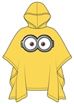 Youth Poncho Raincoat One Eyed Minion, Yellow