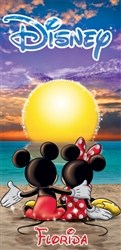 Mickey Minnie Sunset Beach Towel (Florida Namedrop)