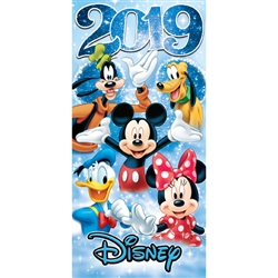 2019 Dated Star Fun Pals Mickey Minnie Goofy Donald Pluto 28x58 Beach Towel, Multi (No Namedrop)