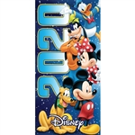 Dated 2020 Team Mickey Minnie Goofy Donald Pluto 28x58 Beach Towel