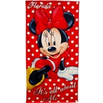 All About Me Minnie Beach Towel (Florida Namedrop)