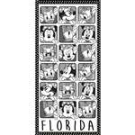 Minnie Daisy Beach Towel (Florida Namedrop)