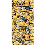 Bunch of Minions Mingling Beach Towel 28x58