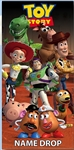 Toy Story Gang Buzz, Woody, Potato Head, Slinky Dog & More Beach Towel
