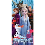 Frozen II Frozen is Back Anna Elsa Olaf Cristof Sven Beach Towel, 28x58
