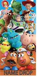 Beach towel Toy Story Group, 28X58 (Namedrop Available)