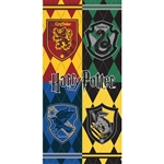 Harry Potter Hogwarts Houses Crest, 28x58 Beach Towel (No Namedrop)