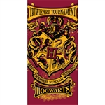 Harry Potter Hogwarts Crest Triwizard Tournament, 28x58 Beach Towel (No Namedrop)
