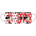 Minnie Polka Dots 14oz Mug, Red