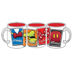 Iconic Mickey Minnie Goofy Donald 11oz Mug