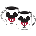 "Mickey ""His"" 11oz Mug, White"