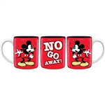 Mickey No Go Away 11oz Ceramic Mug, Red