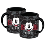 Mickey Mouse Big Face Relief 14oz Mug, Black