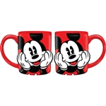 Big Mickey Face 14oz Relief Mug, Red