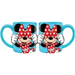 Minnie Big Bow Peekaboo 14oz Relief Mug, Blue