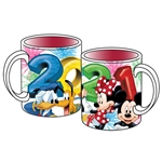 14oz Relief Mug 2021 Mickey Minnie Pluto Donald