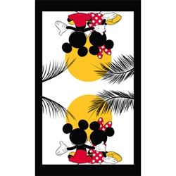 Kitchen Towel Single Mickey Minnie Sunset, Multi (Kitchen Towel Only)