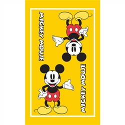 Kitchen Towel Single Mickey Mouse, Yellow (Kitchen Towel Only)