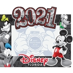 4x6 Picture Frame 2021 Comic Four Goofy, Donald, Pluto Mickey, (Florida Namedrop)