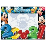 4x6 Picture Frame 2021 Big Numbers Mickey Minnie Goofy Donald Pluto