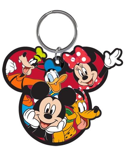 Dizz Disney Gang Mickey Goofy Donald Pluto Minnie Laser Keychain