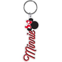 Minnie Mouse Summer Bow Lasercut Keychain