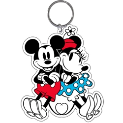 Mickey Minnie Love Tail Lasercut Keychain