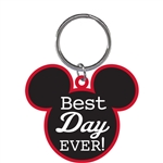Best Day EVER Mickey Head Lasercut Keychain