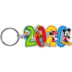 Dated 2020 Fun Pals Mickey Minnie Goofy Donald Lasercut Keychain