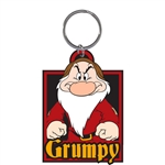 Grumpy Day Big Face Lasercut Keychain