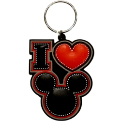 I Love Mickey Too Lasercut Keychain