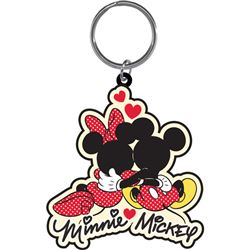 Mickey & Minnie Cuddle - Lasercut Keychain