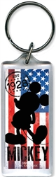 American Icon Mickey Mouse Lucite Keychain
