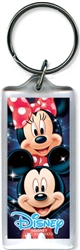 Head to Head Mickey Minnie Lucite Keychain