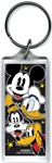 Heads Up Mickey Donald Goofy Pluto Lucite Keychain