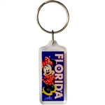 Coy Minnie Lucite Keychain (Florida Namedrop)
