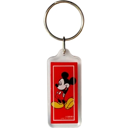 Classic Mickey Red Lucite Keychain