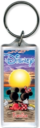 Mickey Minnie Disney Sunset Lucite Keychain, Florida Namedrop