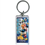Dated 2020 Team Mickey Minnie Goofy Donald Pluto Lucite Keychain