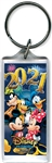 Lucite Keychain 2021 Party Pals Mickey Minnie Goofy Donald Pluto, (Florida Namedrop)