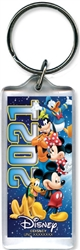 Lucite Keychain 2021 Team Night Mickey Minnie Goofy Donald Pluto