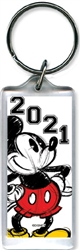 Lucite Keychain 2021 Original Big Mickey White