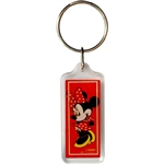 Classic Minnie Red Lucite Keychain