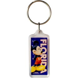 Coy Mickey Lucite Keychain (Florida Namedrop)