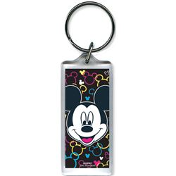 Mickey Mouse Toss Heads - Lucite Keychain